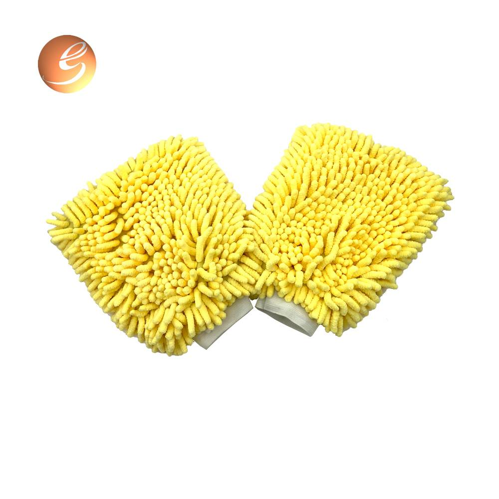 Top quality chenille durable dust removal car cleaning gloves Featured Image
