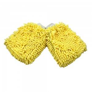 Top quality chenille durable dust removal car cleaning gloves