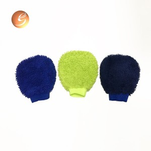 Microfiber easy wash and quick dry car care cleaning glove