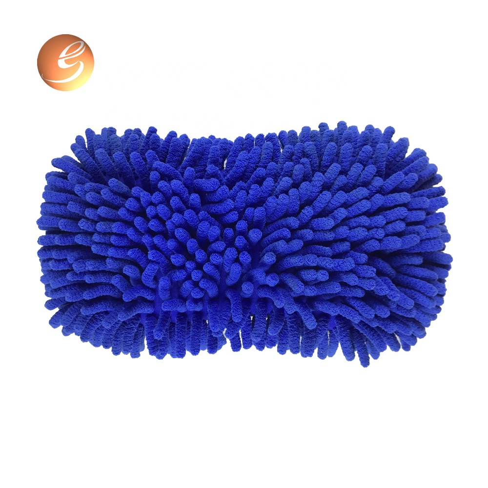 Microfiber cleaning practical car sponge polish applicator chenille wash pad