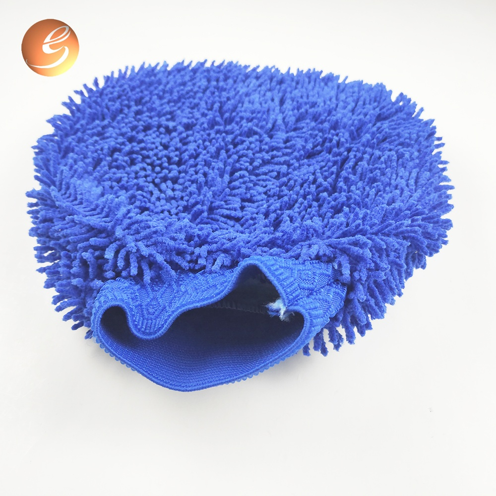 Good Quality Soft Car Cleaning Chenille Patchwork Wash Mitt
