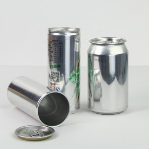 100ml 200ml 250ml 350ml 500ml flat aluminum drinking bottle with printing for carbonated energy drink