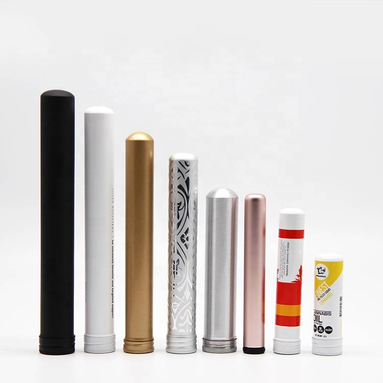 Custom logo single aluminum cigar joint tube wholesale