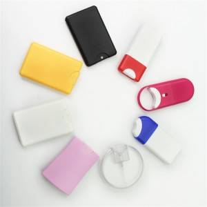 2020 New Design Mini Pocket Size Hand Sanatizer Credit Card Spray Plastic Bottle