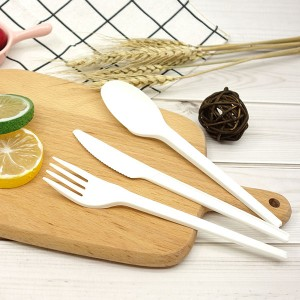 PriceList for Eco-Friendly Cpla Cutlery - CPLA Plant-based Compostable Plastic-free Renewable 6.5 inch Cutlery – Gianty