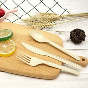 "Discount Price 6.5\"" Biodegradable Utensil - CPLA+Bamboo Plant-based Compostable Plastic-free Renewable 6 inch Cutlery – Gianty"