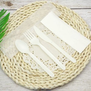 Special Design for Black Cutlery Set - CPLA Plastic-free Sustainable Renewable Cutlery Kit – Compostable bag – Gianty