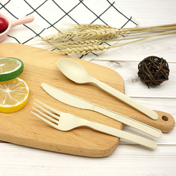 Chinese wholesale Compostable Knife - CPLA+Bamboo Plant-based Compostable Plastic-free Renewable 7 inch Cutlery – Gianty