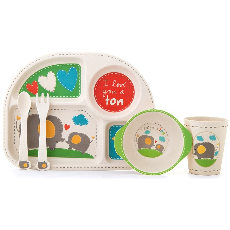 Durable hot and fall resistant children's tableware set creative fashion skidproof family baby dinner plate