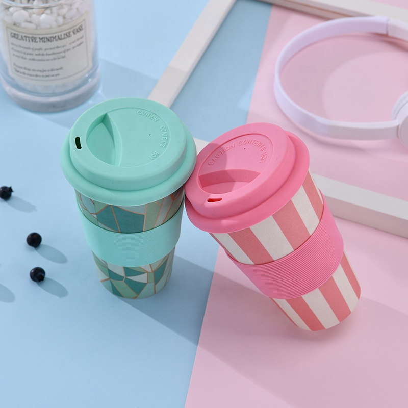 Creative fashion non breakable portable coffee cup thermal insulation resistant mug safe biodegradable water cup