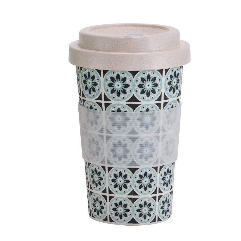Quality Inspection for Vending Cup - Fashionable bamboo fiber delicate coffee cup with cover and leakproof silicone water bottle cover – Naike