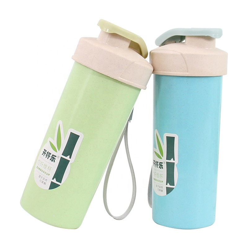 Hot sale Collapsible Water Bottle - Sealed safe leakproof bamboo fiber battle small fresh pure color fashionable small single layer portable cup – Naike