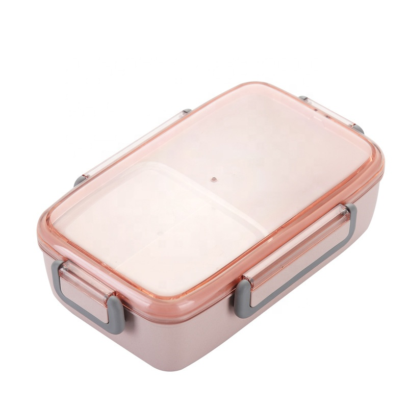 High Quality New Design Eco-Friendly Bamboo Fiber Storage Box Food Container Bento Lunch Box For Kids