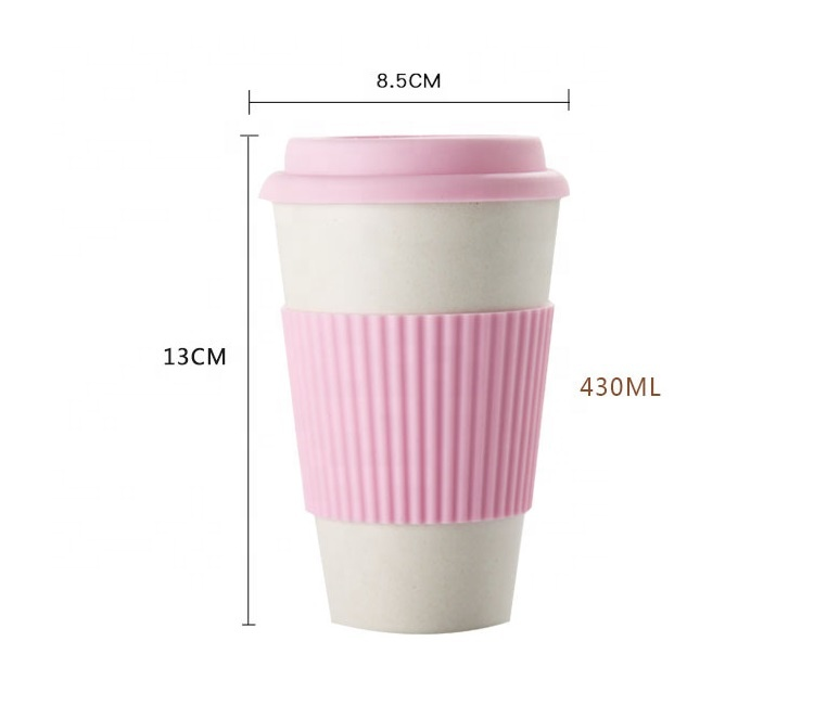 China OEM Travel Coffee Cup - Pure color simple biodegradable coffee mug creative fashion mug with leakproof cover environmental protection mug – Naike