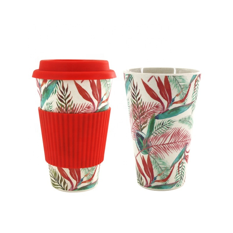 Best Price for Environmental Protection Cup - Cartoon still biodegradable bamboo fiber coffee cup portable anti wear environmental protection mug – Naike