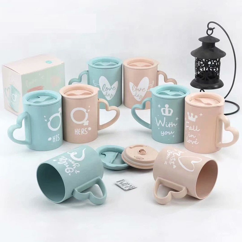 China New Product Compostable Cups - Creative bamboo fiber mug with cover simple fashion portable coffee cup hot and leakproof portable water cup – Naike