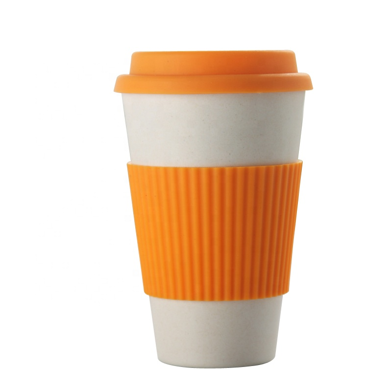 Factory Price Cup And Mug - Pure color fashion safe non toxic bamboo fiber coffee cup easy to clean not easy to break portable mug – Naike