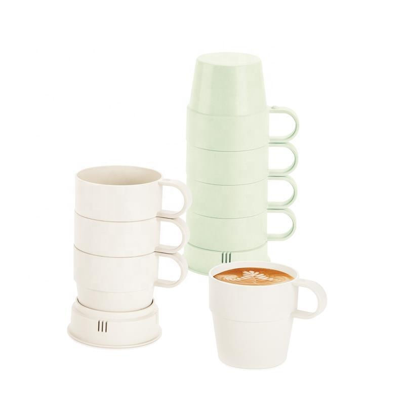 China OEM Travel Coffee Cup - Multi functional bamboo fiber children's water cup set of pure color juice cup environmental degradable milk cup – Naike