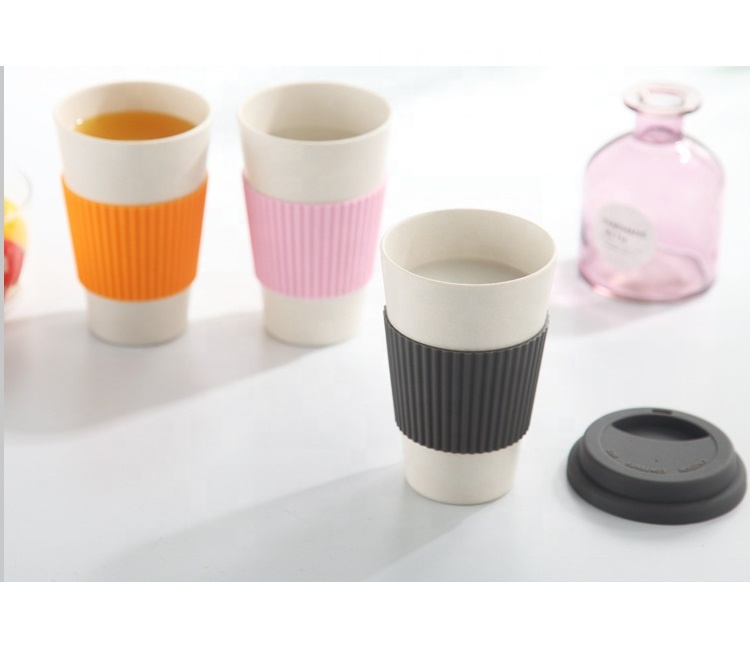 China Gold Supplier for Hot Drink Cup - Pure color fashion safe non toxic bamboo fiber coffee cup easy to clean not easy to break portable mug – Naike