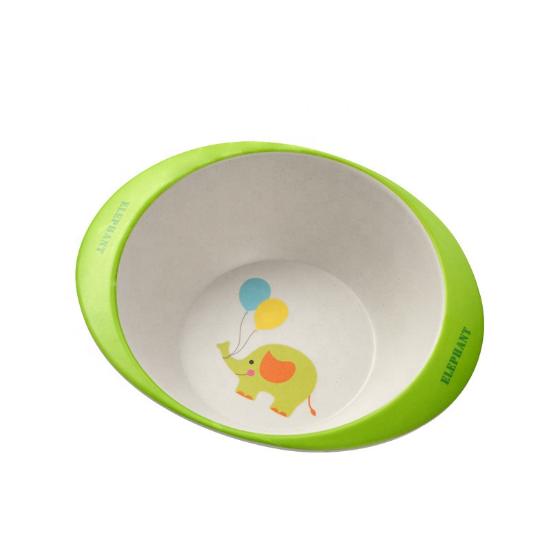 2020 wholesale price Biodegradable Bamboo Bowl - Cartoon anti skid environmental protection children's meal bowl creative fashion anti hot baby cutlery – Naike