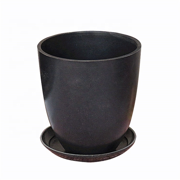 Easy to clean round mouth flowerpot fashion durable green plant basin surface bright and clean thickening basin