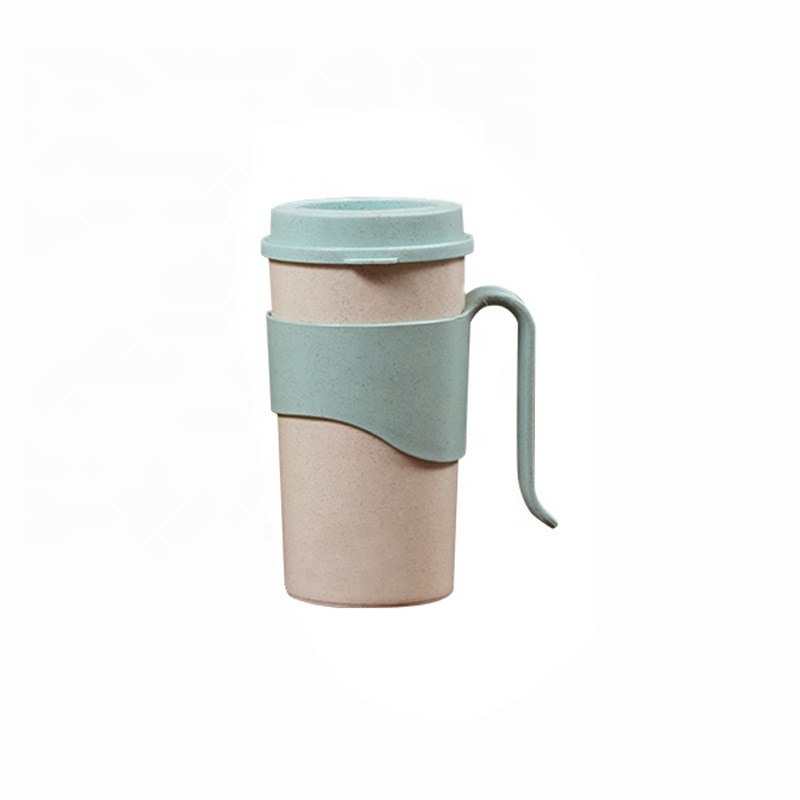 Special Design for Ripple Wall Cups - Pure color anti ironing bamboo fiber coffee cup fashionable with cup set water bottle sealing multi functional cup – Naike Featured Image