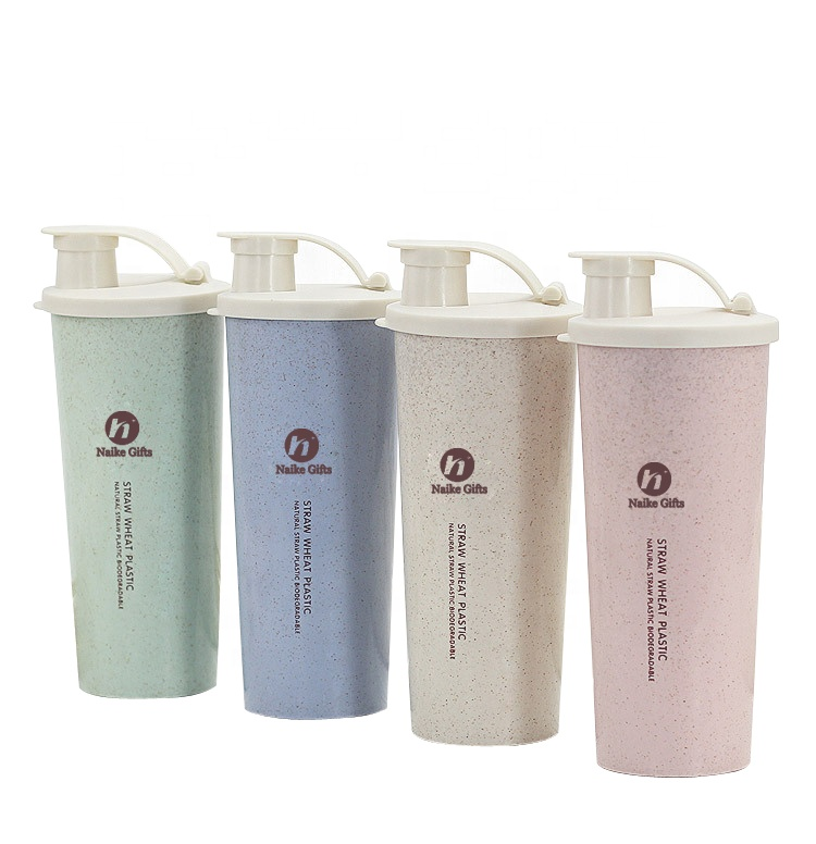 China OEM Private Label Cup - Custom logo natural eco friendly reusable biodegradable products wheat straw plastic vacuum cup for travel – Naike