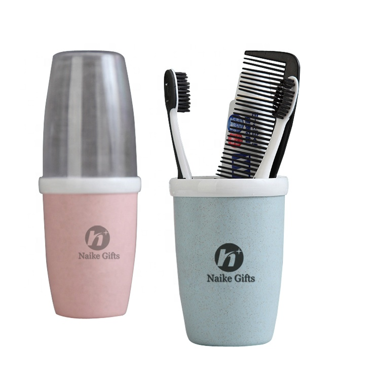 Wholesale natural eco friendly reusable biodegradable products wheat straw plastic cup for toothbrush