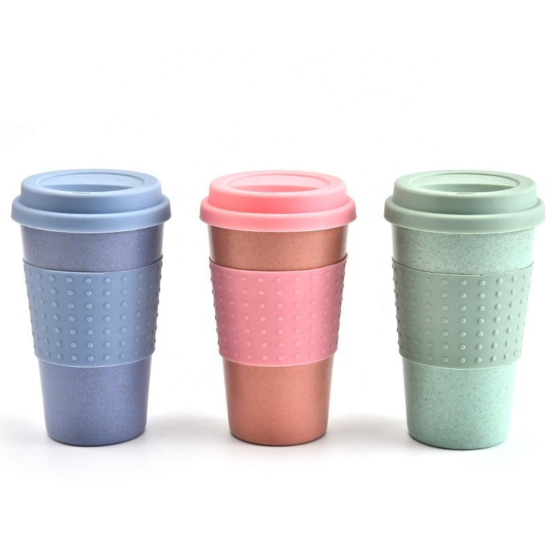 Hot sale Factory Fashion Water Bottle - Hot sale natural eco friendly reusable biodegradable plastic pla wheat straw fiber mugs with lid for travel – Naike
