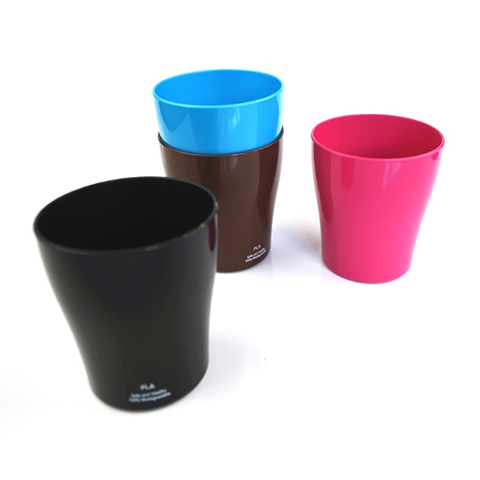 Hot sale custom printed logo biodegradable reusable eco-friendly durable pla toothbrush gargle cup for home use