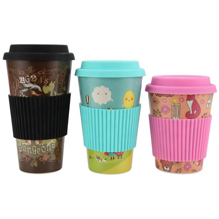 OEM Factory for Coffee Cups With Silicone Grip - Environment-friendly eco friendly reusable biodegradable bamboo fiber cups take away coffee mugs – Naike