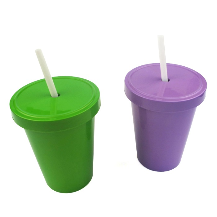 Best selling products custom printed logo biodegradable outdoor portable reusable pla travel sippy cup with lid