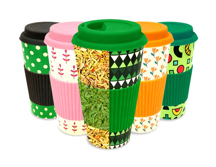 New products eco friendly reusable natural organic biodegradable bamboo fiber coffee mug for kids
