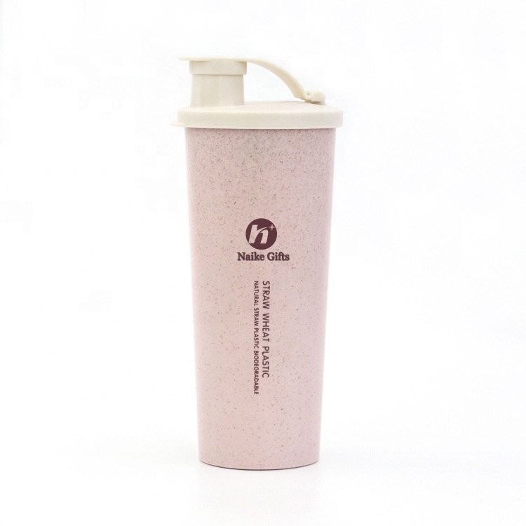 China OEM Private Label Cup - Custom logo natural eco friendly reusable biodegradable products wheat straw plastic vacuum cup for travel – Naike detail pictures