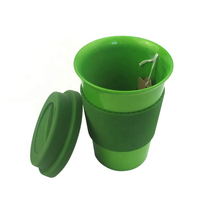 Wholesale custom outdoor portable biodegradable reusable pla travel coffee mug with lid