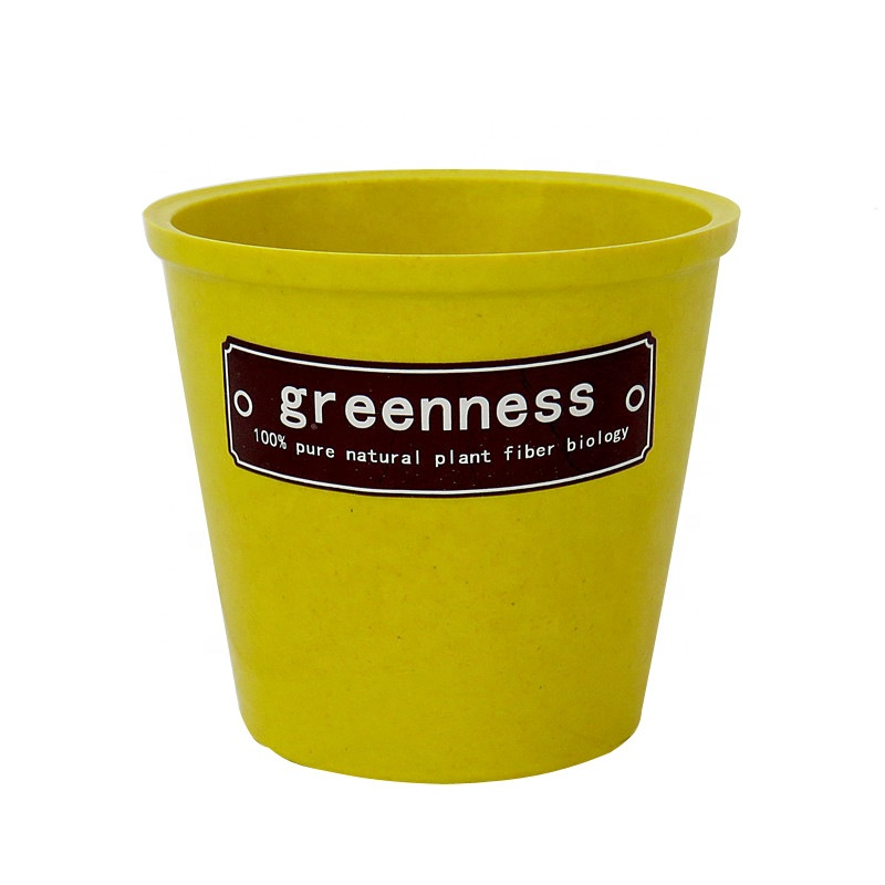 Thickened waterproof circular biodegradable flowerpot hard breathable creative desktop plant basin