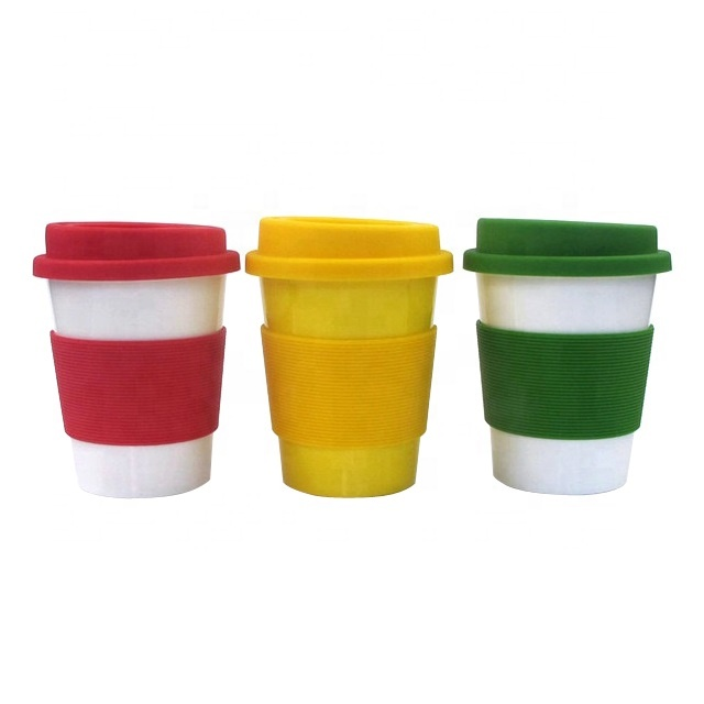 High quality outdoors portable food grade biodegradable reusable pla coffee mug with lid for travel