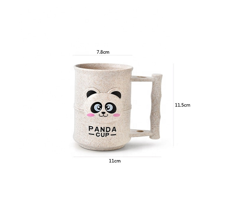 China Supplier Coffee Cups - Three dimensional bamboo coffee cup cartoon panda biodegradable mouthwash cup anti hot and anti-fall water cup – Naike