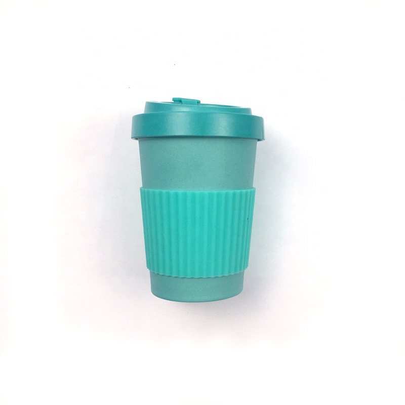 Fixed Competitive Price 400ml Water Cup - Safe and environment friendly degradable bamboo fiber coffee cup with simple cover leakproof mug – Naike
