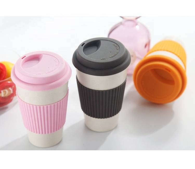 China Gold Supplier for Hot Drink Cup - Pure color fashion safe non toxic bamboo fiber coffee cup easy to clean not easy to break portable mug – Naike detail pictures