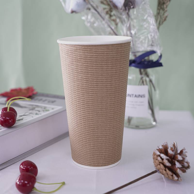 8oz 10oz 12oz biodegradable disposable PLA printed design compostable paper cup with logo and Lids Featured Image
