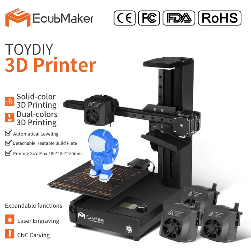 2020 Latest Design Ultimaker 3d Printer - EcubMaker ToyDIY 4in1 specification – Ecubmaker