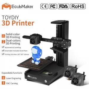 OEM Manufacturer cura 3d printer - EcubMaker ToyDIY 4in1 specification – Ecubmaker