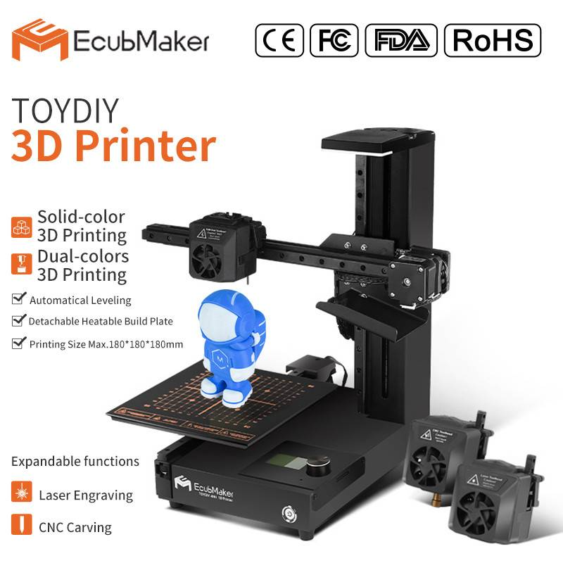 OEM China 3d printer 3 in 1 - EcubMaker ToyDIY 4in1 specification – Ecubmaker Featured Image