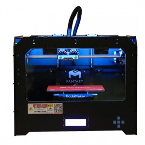 Fantasy II enclosed 3d printer with two extruders