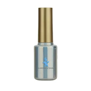 3ML SILVER COLOR CYLINDRICAL SHAPED GLASS EMPTY NAIL GEL BOTTLE