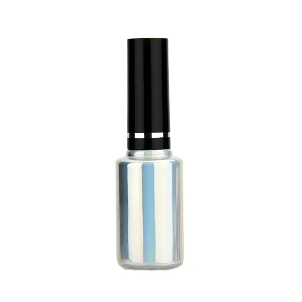 3ML SILVER COLOR CYLINDRICAL SHAPED GLASS EMPTY NAIL GEL BOTTLE Featured Image