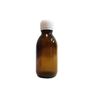 100ml amber glass medicine syrup bottle with tamper evident cap