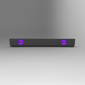 Quality Inspection for Wireless Soundbar Deals - 2020 New Design Mini Soundbar with RGB lights for TV Home Theater(600X-27) –  Eyin