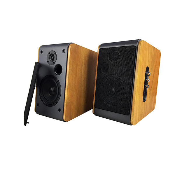 2020 wholesale price Multimedia Usb Speaker - Wooden super bass USB bluetooth 2.0CH stereo audio sound Hi-Fi hifi bookshelf speaker(BT-106) –  Eyin